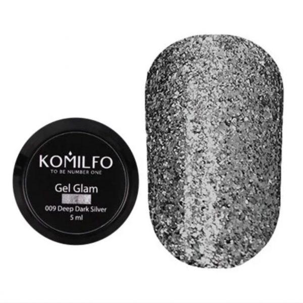 Painting gel plata oscuro 5ml Komilfo